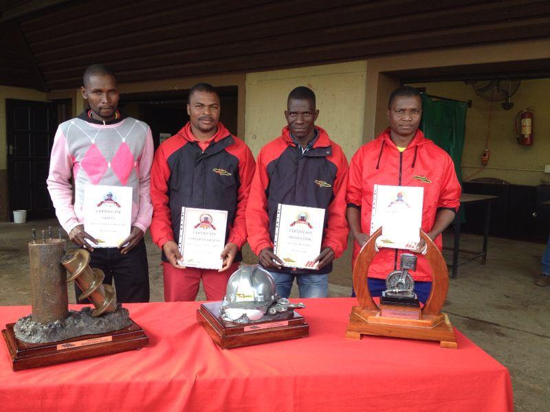 Mega Pile Awards - Phineas Phumlani Mthembu, Michael Mthembu, Nkosiphendulo Mguguli and Magwaza George Gumede